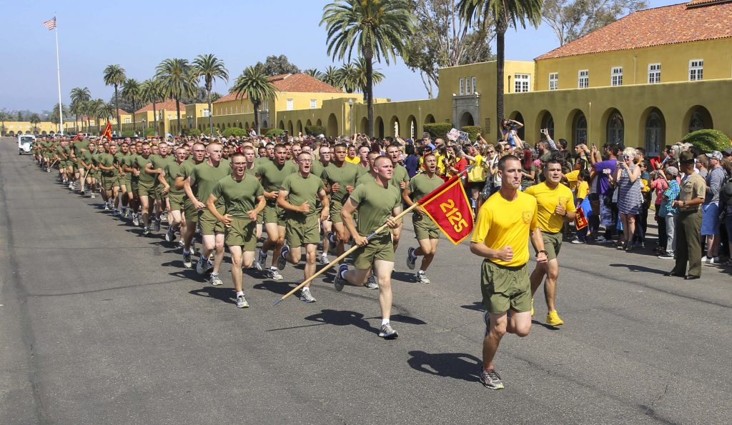 MCRD San Diego, the Marine Corps Recruit Depot is one of two training site for Marine Corps recruits.