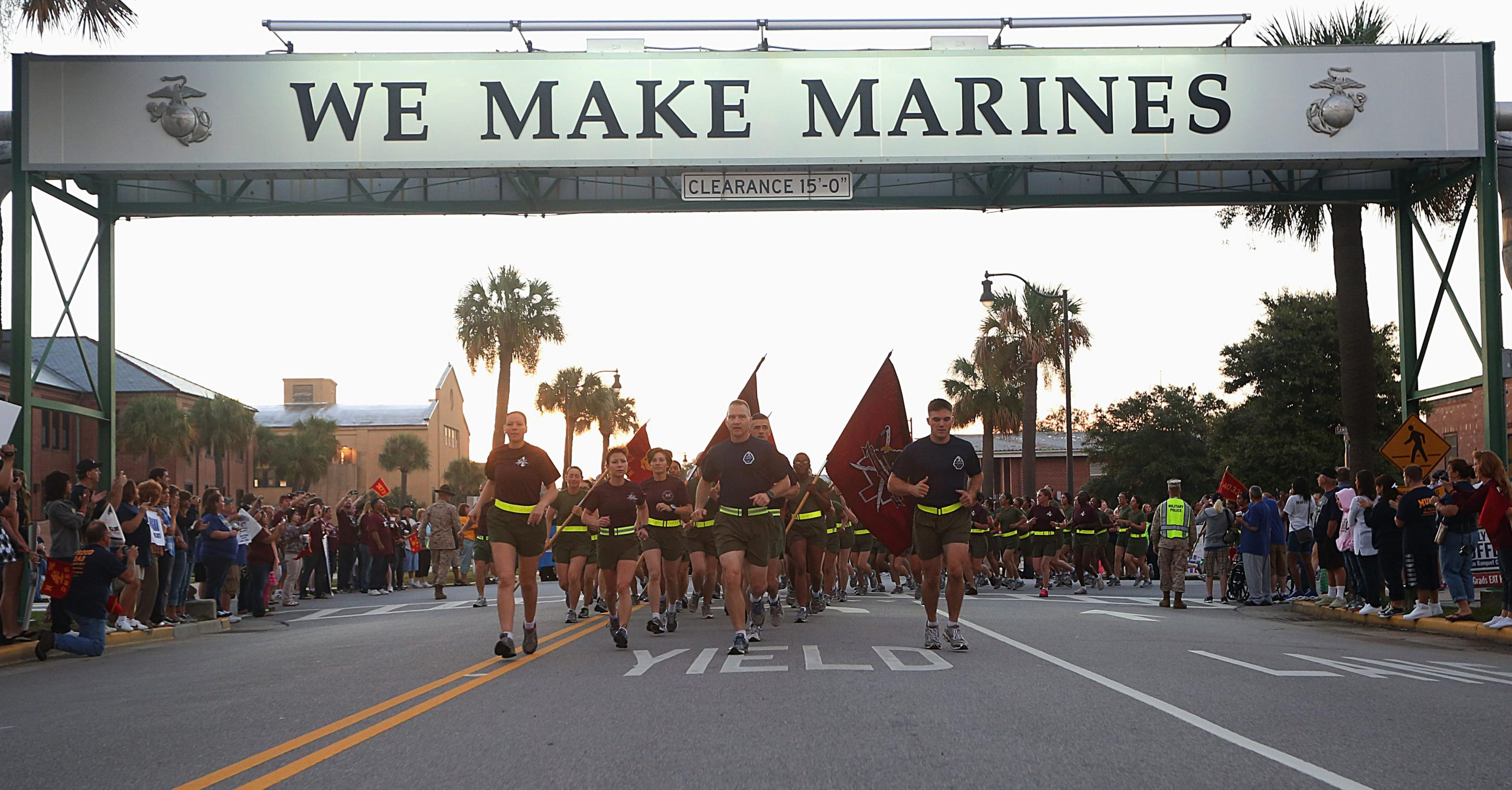 MCRD Parris Island is one of two Marine Corps Recruit Depots where Marine Corps recruits undergo basic training.