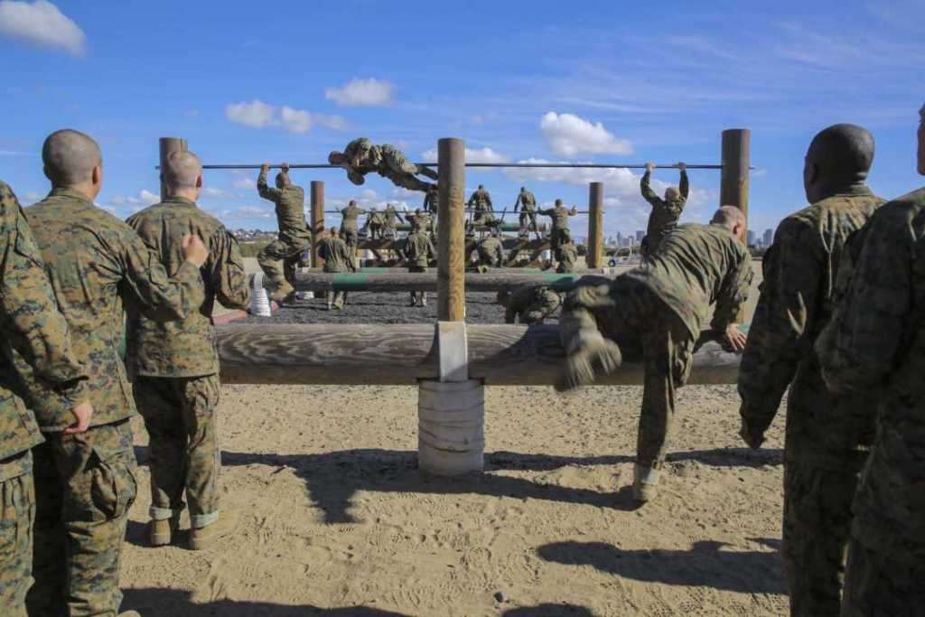 Marine Corps Obstacle Course at MCRD San Diego, California
