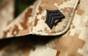 Marine Corps ranks - a sergeant chevron
