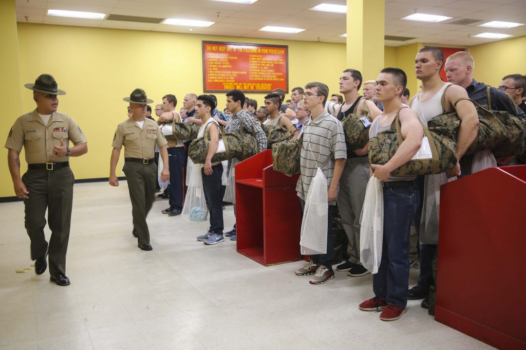 What can you bring to Marine boot camp? The corps will issue everything you need.